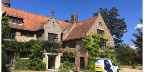Heritage re-roof works at Hindringham Hall